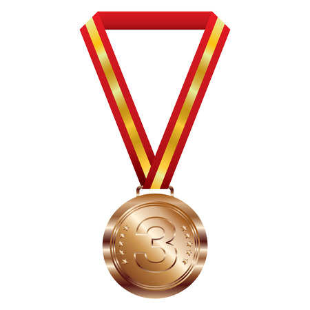 bronze medal: Bronze medal on white background.