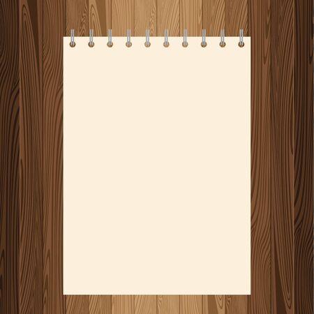 lath: Yellow paper on lath boards. Illustration
