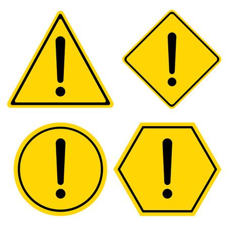 Hazard Warning Sign Triangle Hexagon Square And Circle Symbol