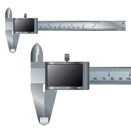 vernier: Vernier caliper digital electronic tool.  Business object and Construction tool.