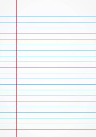 memo pad: Lined paper from a notebook on old white background.