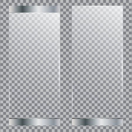 Glass door set isolated on transparent background.