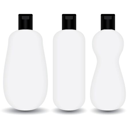lotion bottle: White plastic Shampoo, lotion bottle cosmetic package