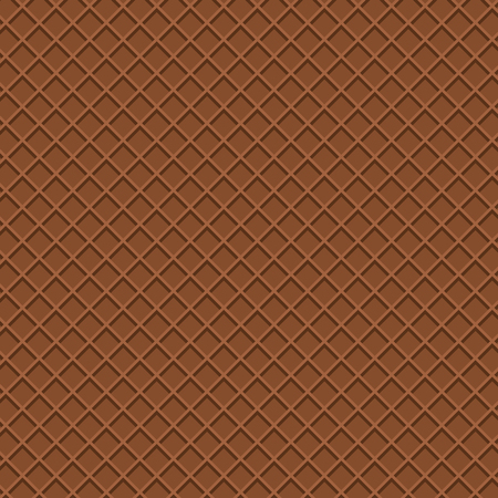 Chocolate wafer pattern in top view. Beautiful wafer pattern.