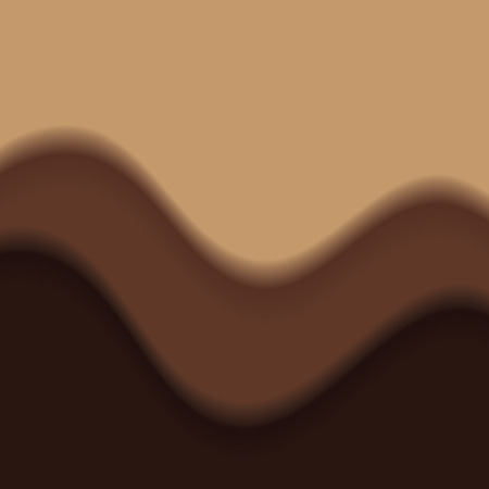 Chocolate and carame droplet in top view. Chocolate and caramel background. Ilustrace