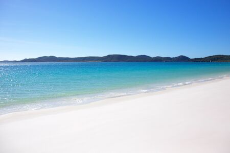 whitsundays: Tropical Whitehaven Beach in the Whitsundays Australia Stock Photo