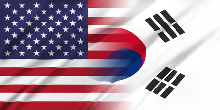 south korea flag: Relations between countries. USA and Korea South.