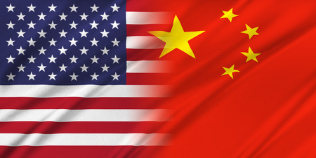 china: Relations between countries. USA and China. Stock Photo
