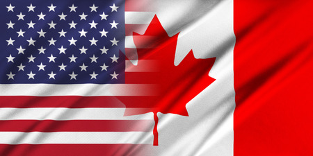usa patriotic: Relations between countries. USA and Canada.