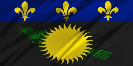 guadeloupe: Flag of Guadeloupe  waving in the wind