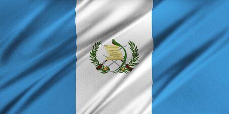 Flag of Guatemala  waving in the wind Фото со стока