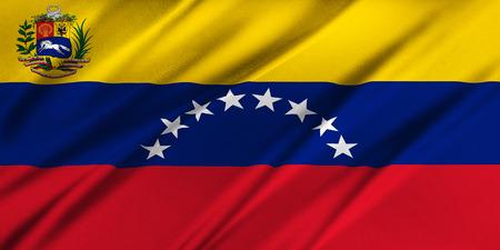 venezuela: Flag of Venezuela waving in the wind