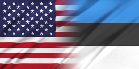 Relations between countries. USA and Estonia. Stock fotó