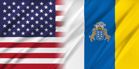 provocation: Relations between two countries. USA and Canary Islands Stock Photo