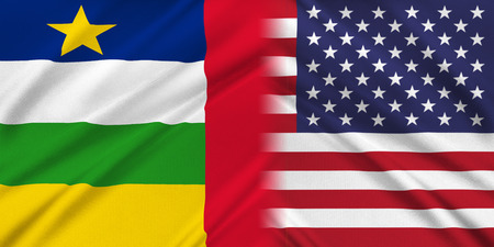 provocation: Relations between two countries. USA and Central African Republic Stock Photo