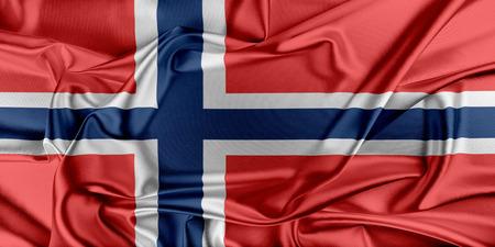 norway flag: Flag of Norway waving in the wind