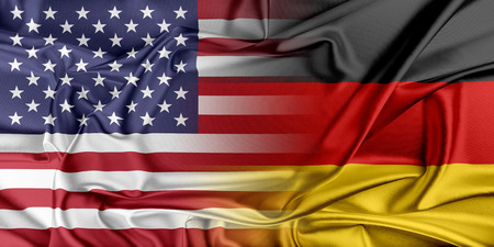 provocation: Relations between two countries. USA and Germany. Stock Photo