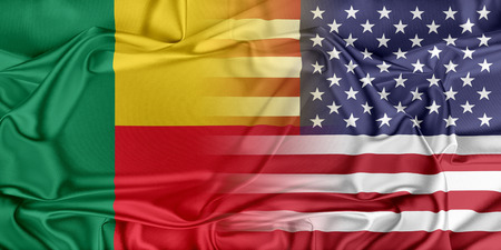 benin: Relations between two countries. USA and Benin Stock Photo