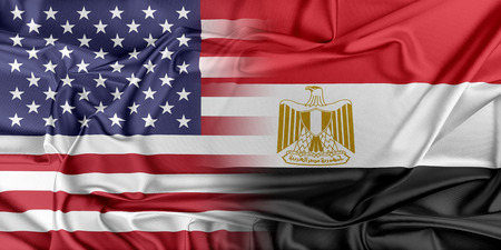 Relations between two countries. USA and Egypt Фото со стока