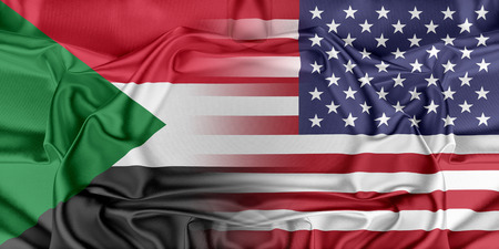 provocation: Relations between two countries. USA and Sudan Stock Photo