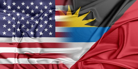 antigua flag: Relations between two countries. USA and Antigua and Barbuda