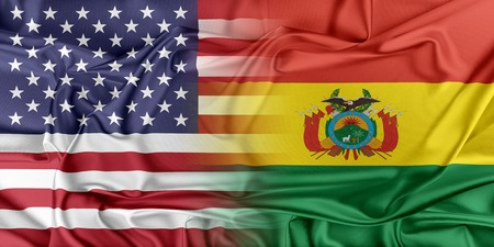 Relations between two countries. USA and Bolivia photo