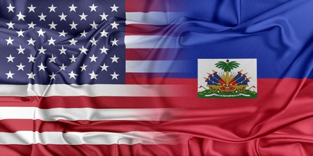 Relations between two countries. USA and Haiti Stock fotó