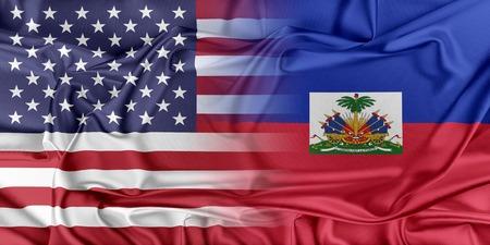Relations between two countries. USA and Haiti Zdjęcie Seryjne