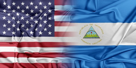 provocation: Relations between two countries. USA and Nicaragua Stock Photo