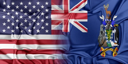 south georgia: Relations between two countries. USA and South Georgia Stock Photo