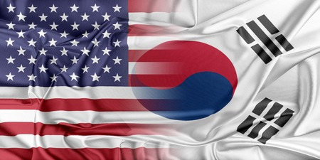 south korea flag: Relations between two countries. USA and Korea South