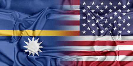 nauru: Relations between two countries. USA and Nauru Stock Photo