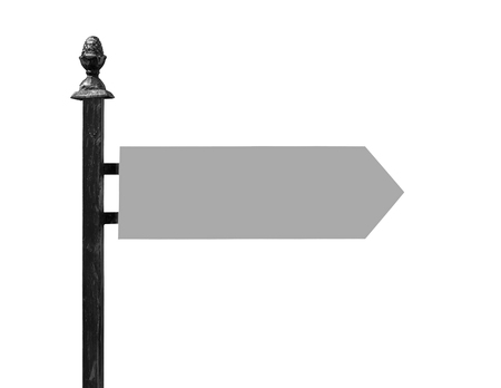 touristic: Travel direction mark on a white background.