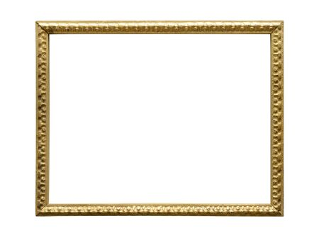 Old picture frame. Isolated over white background.