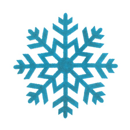 schneeflocke: Das Spielzeug die Schneeflocke isoliert auf weißem Hintergrund. Lizenzfreie Bilder