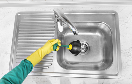 stoppage: Clean the sinks outflow. Hands and pump.