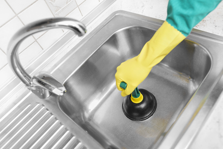 Clean the sinks outflow. Hands and pump.