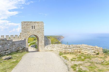inhabitants: The stone fortress on the sea in a beautiful summer day.