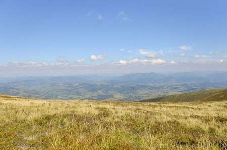 uplands: Nice view of the mountains. Panorama on a sunny summer day.