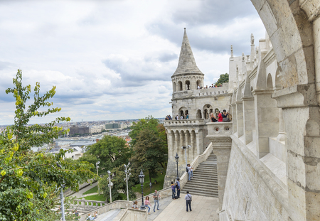 bastion: BUDAPEST, HUNGARY - SEPTEMBER 18: Fishermens Bastion in Budapest, on September 18, 2016 in Budapest, Hungary.