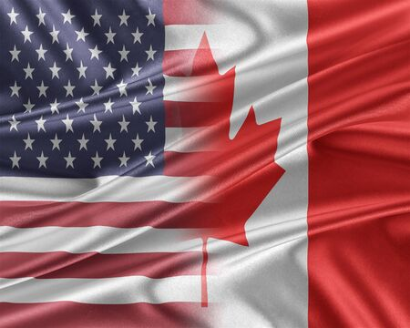 mutual assistance: USA and Canada. Stock Photo