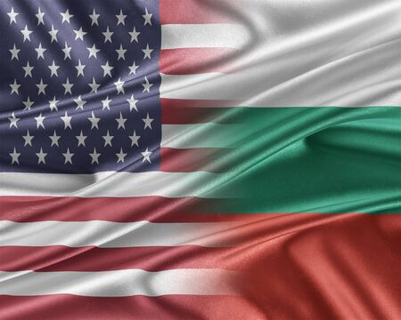 mutual assistance: USA and Bulgaria. Stock Photo