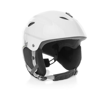 protective: Skier protective helmet. Stock Photo