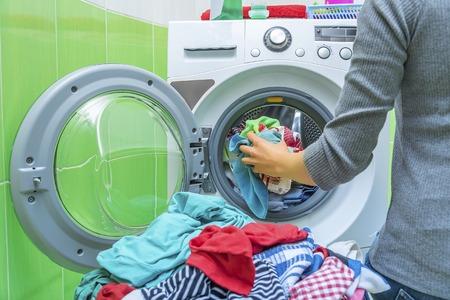 Preparing the wash cycle.
