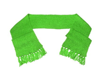 Green scarf on a white background.