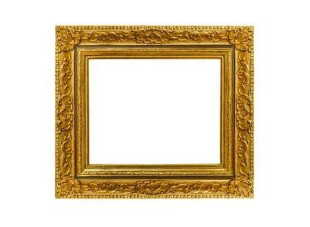 mirror image: Frame on white background. Stock Photo