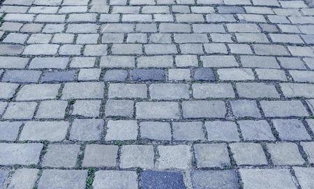 road surface: Urban paving stones. Stock Photo