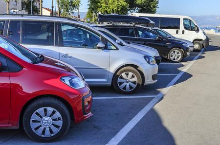Public parking in the city of Split, Croatia.