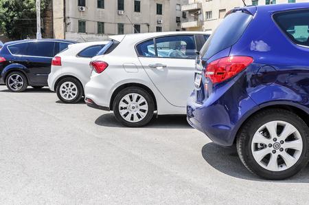 SPLIT, CROATIA - 13 JULY, 2017: Public parking in the city of Split, Croatia Editorial