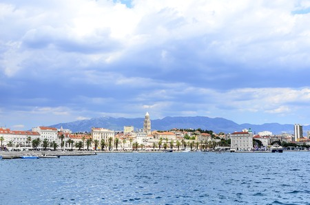 SPLIT, CROATIA - 12 JULY, 2017: Embankment of the spa town of Split, Croatia Editorial
